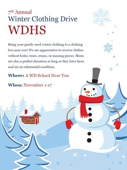 Winter Clothing Drive for Western Dubuque High School