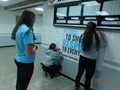 Students signing the pledge