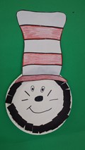 Cat in the Hat paper plate craft