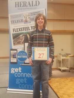 Middle School student participates in spelling bee