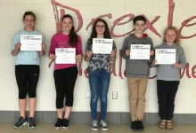 Middle School Students participate in Reading Council Contest