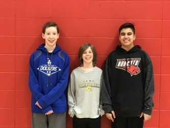 Middle School Spelling Bee participants