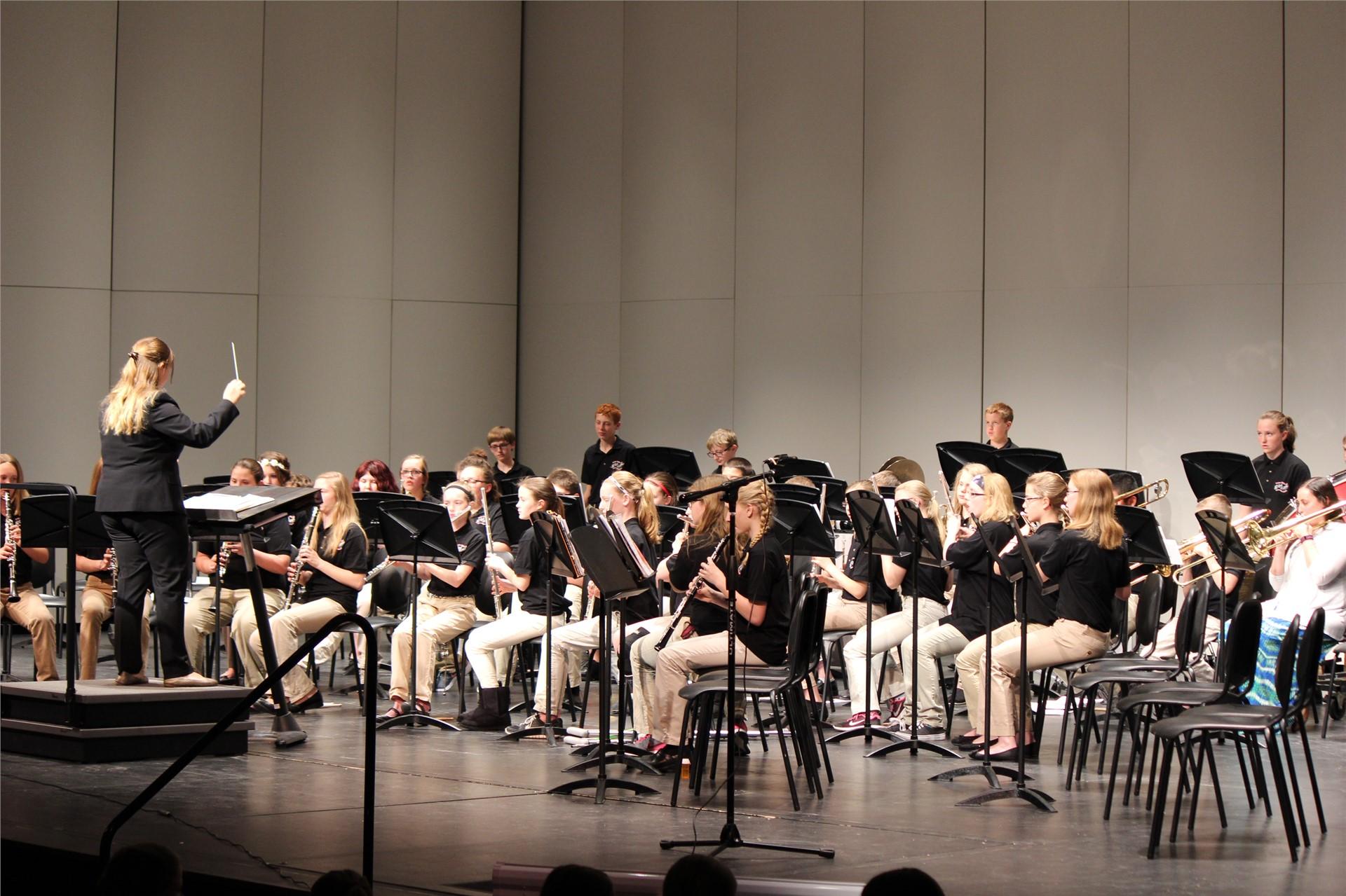 7th grade band, spring 2016