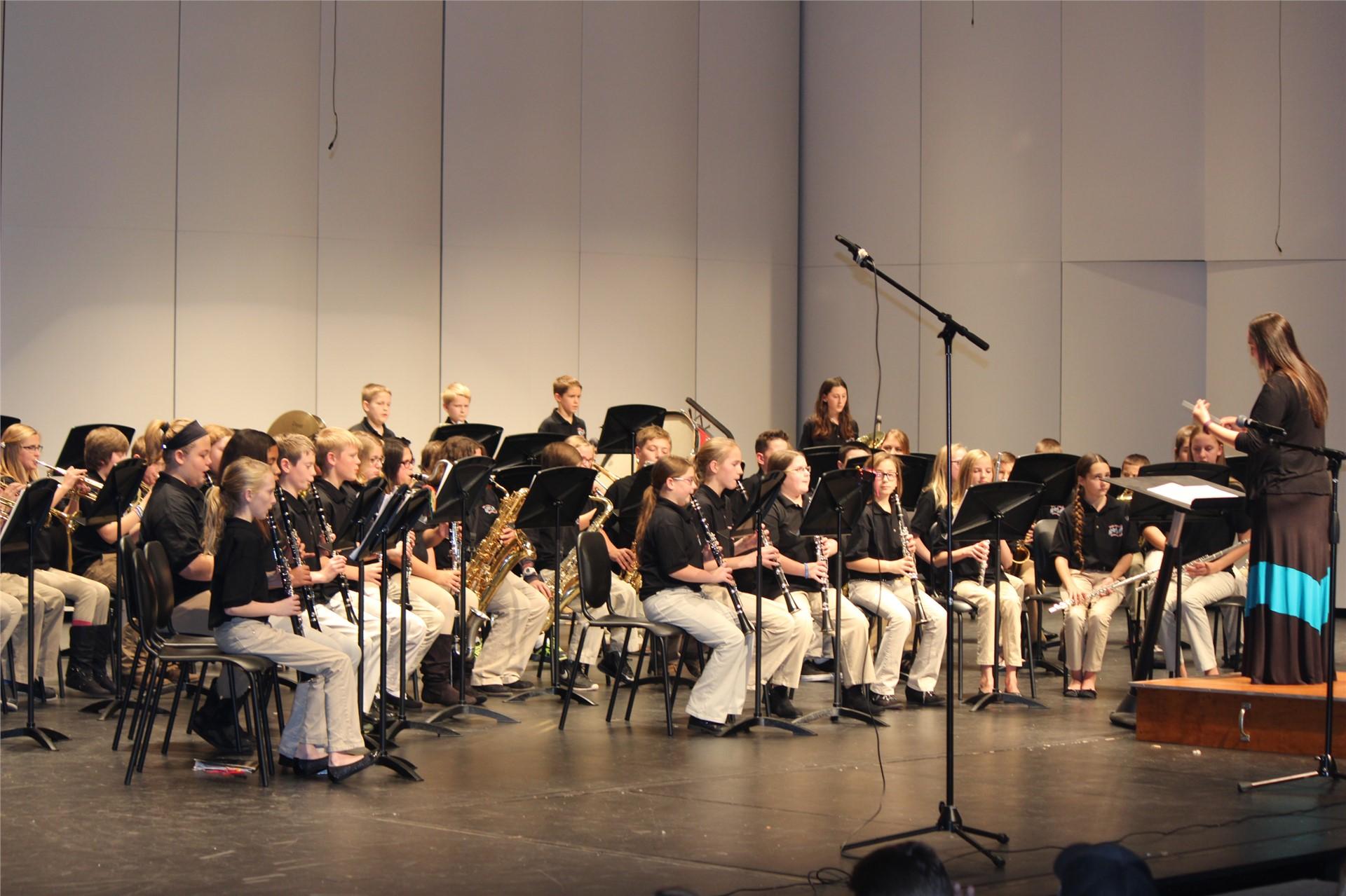 6th grade band, spring 2016