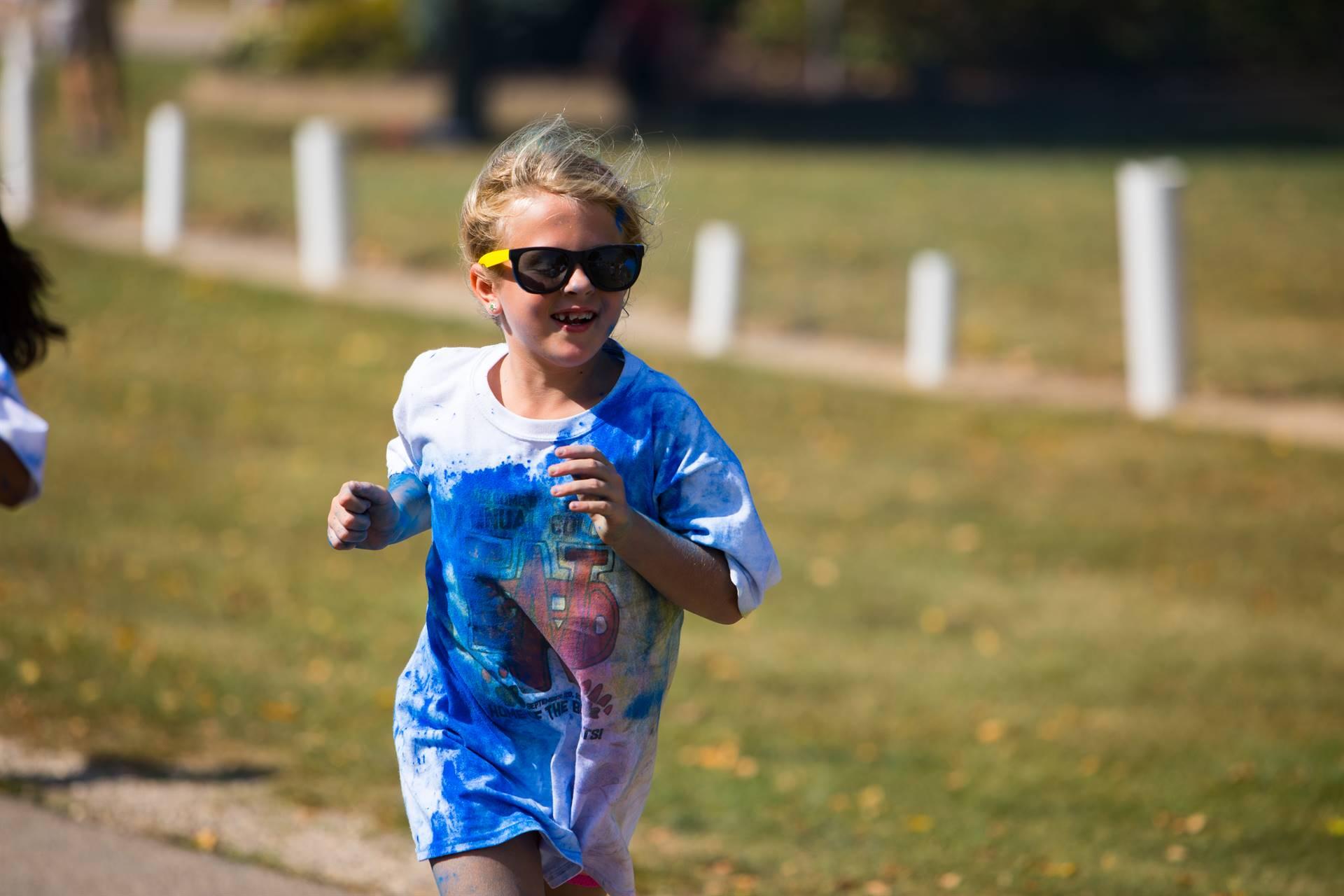 Girl 12 at color run