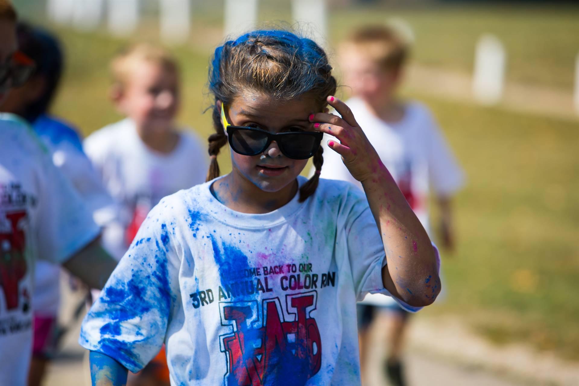 Girl 13 at color run