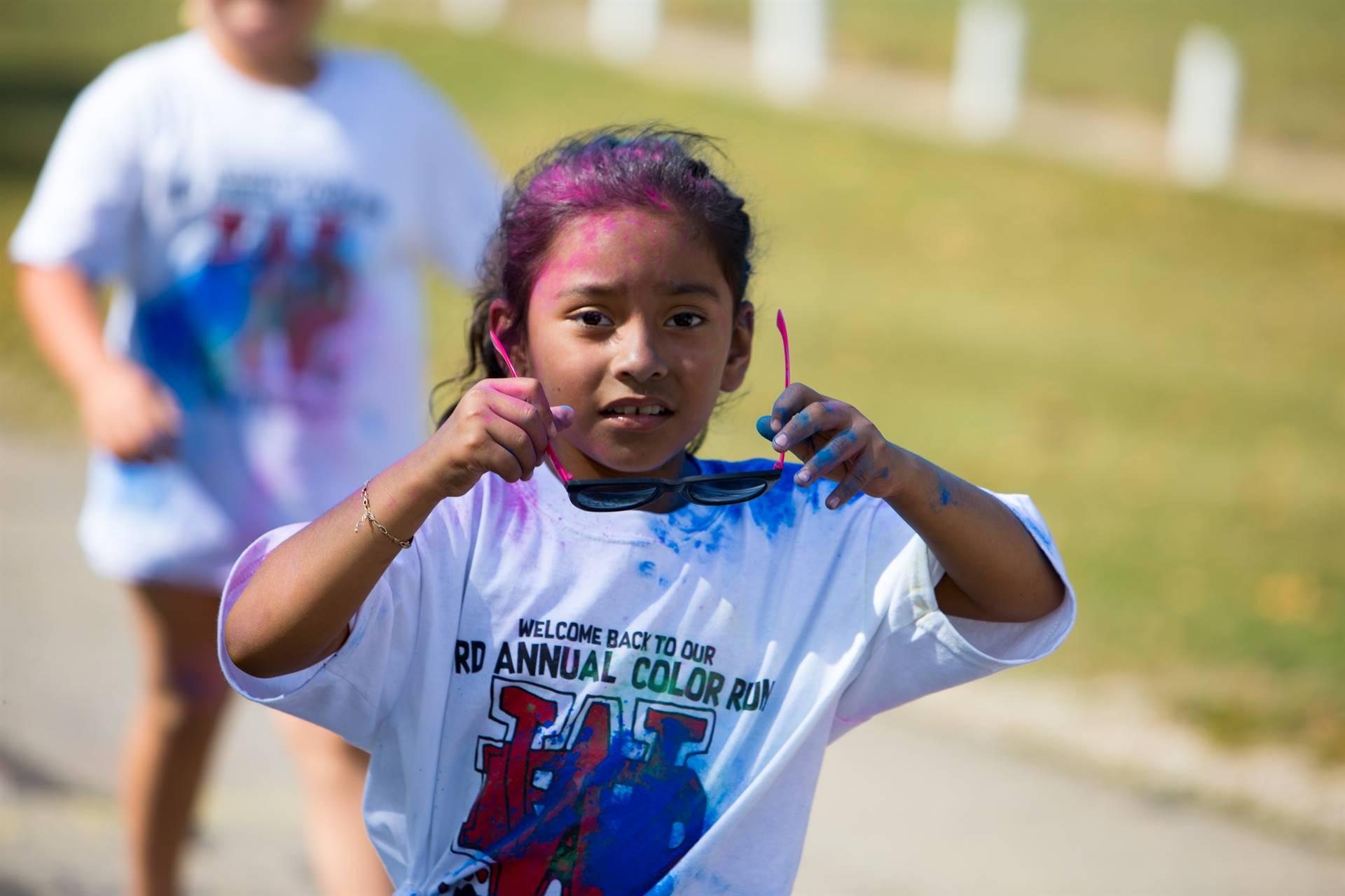 Girl 14 at color run