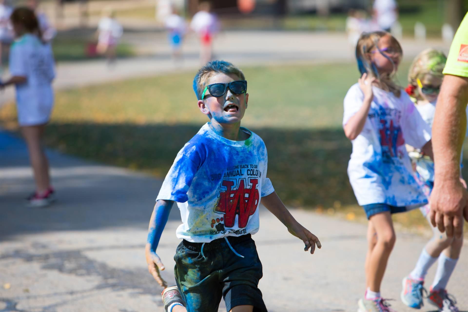 Boy 9 at color run
