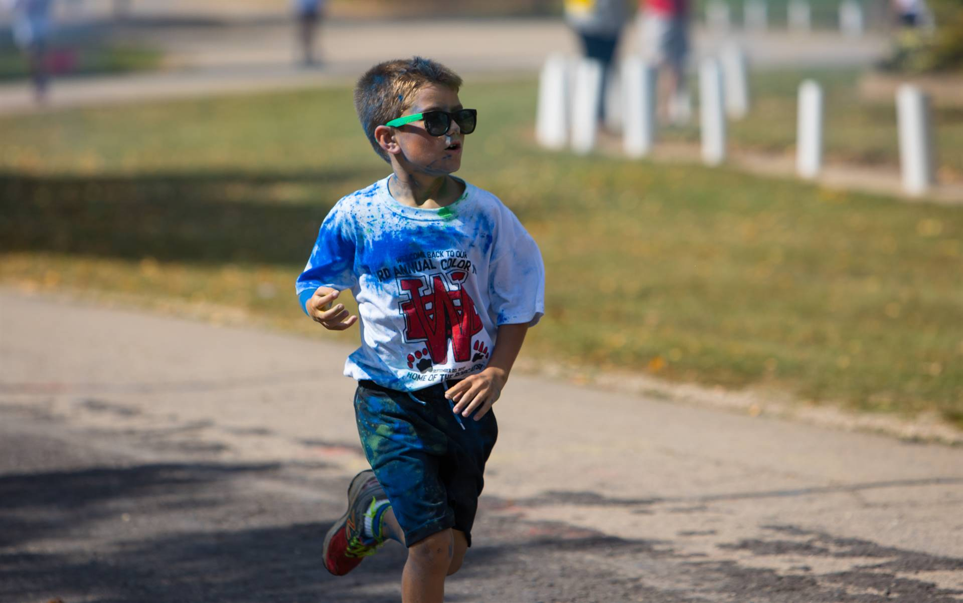 Boy 5 at color run