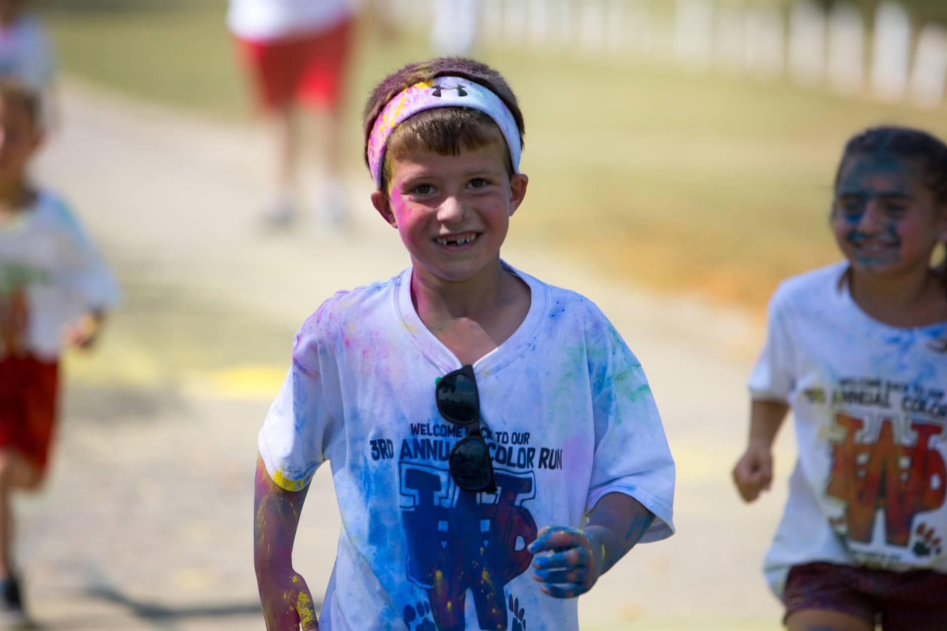 boy 23 at color run