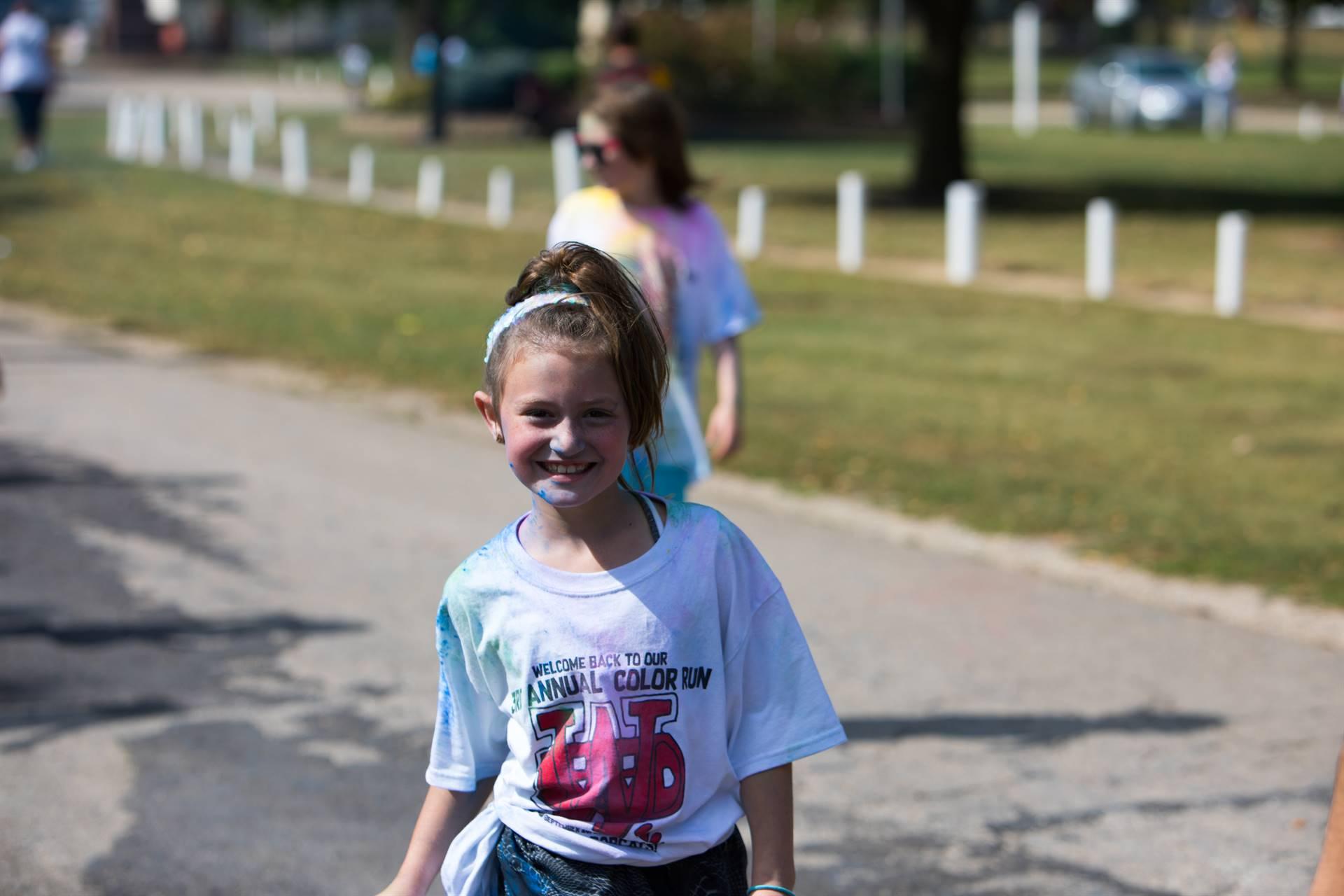 girl 19 at color run