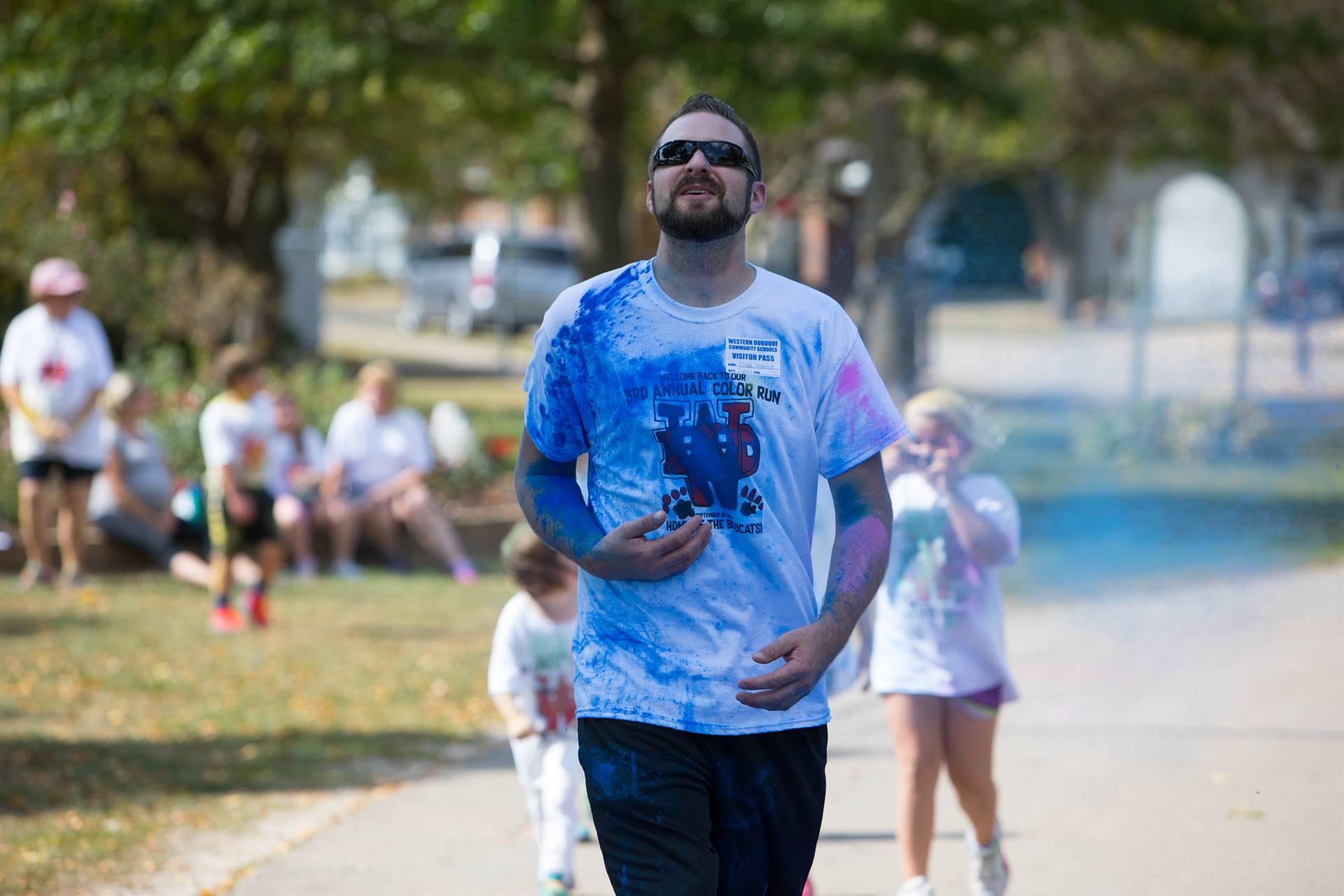 Dad at color run