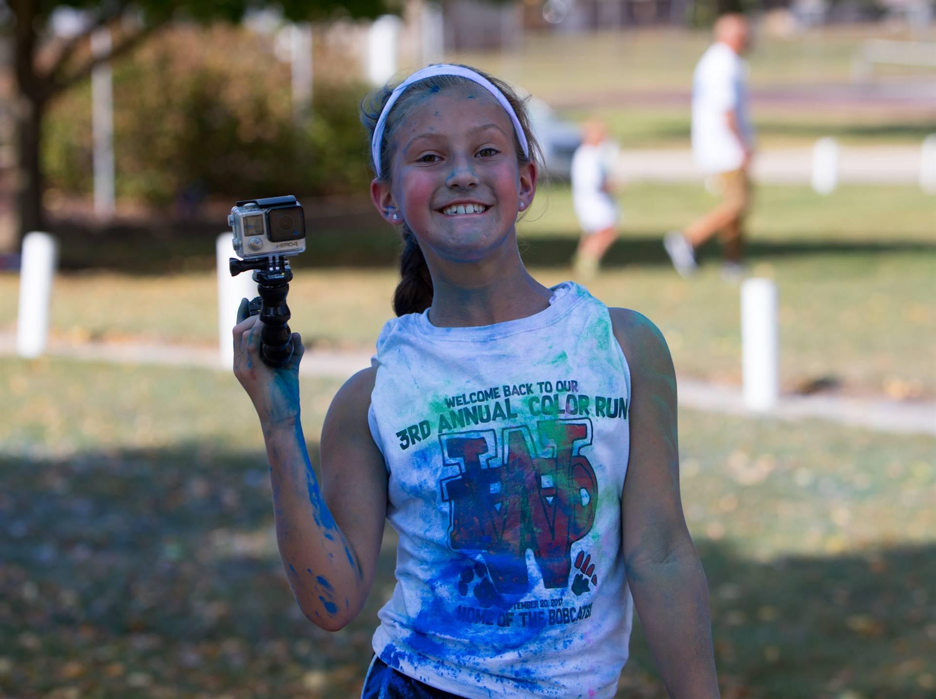 Girl 15 at color run