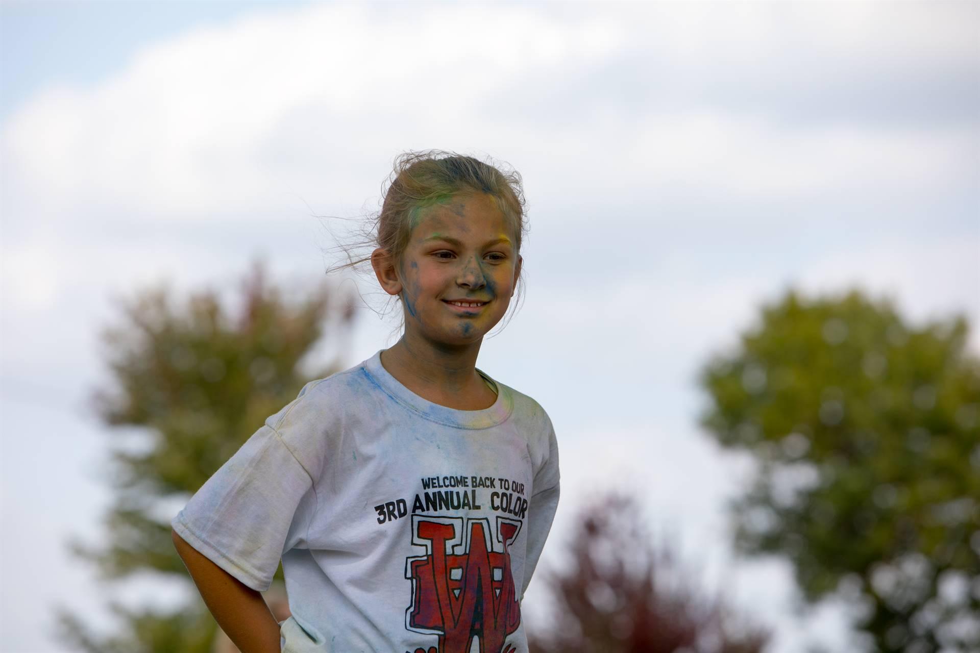 Girl 3 at color run