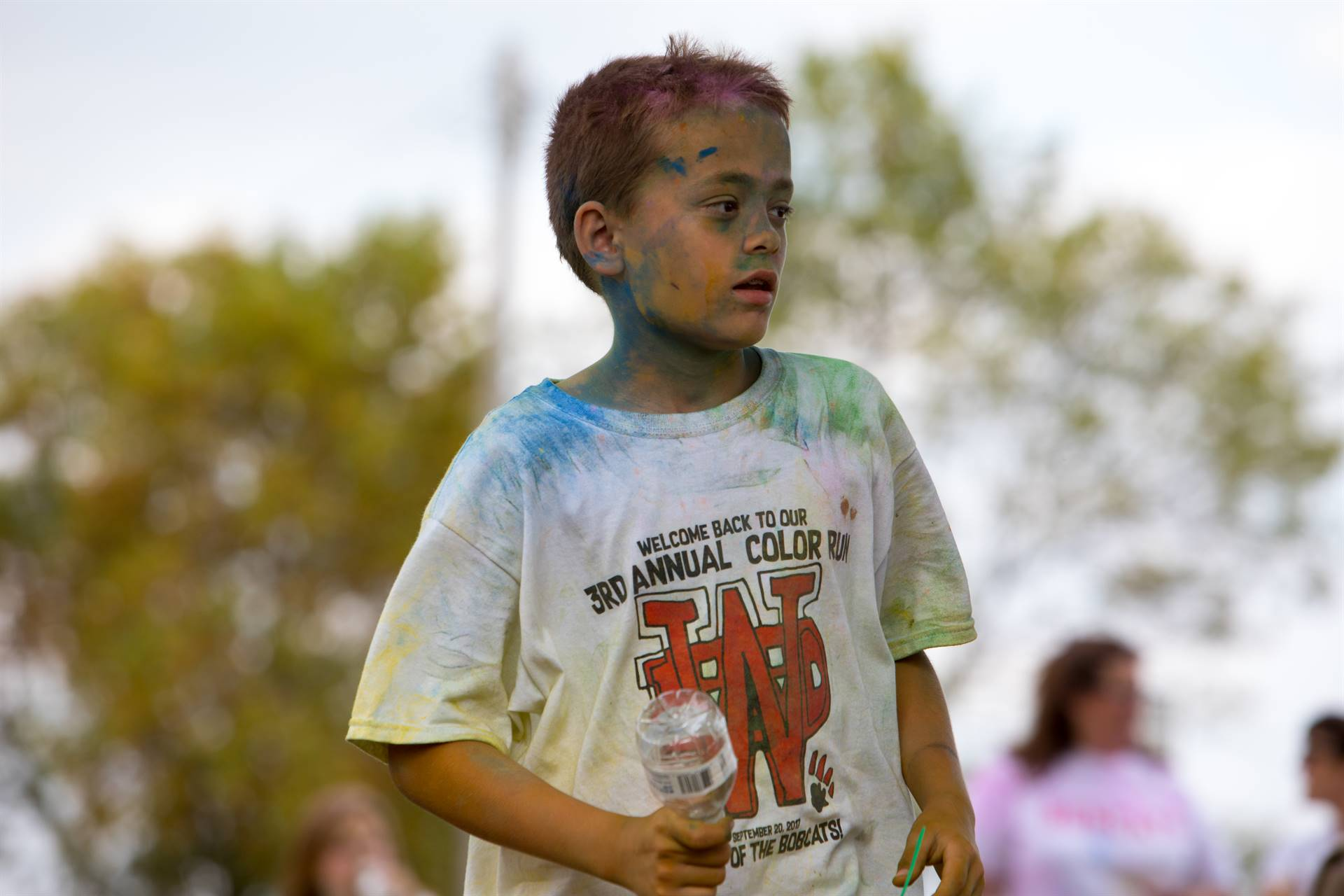 Boy after color run