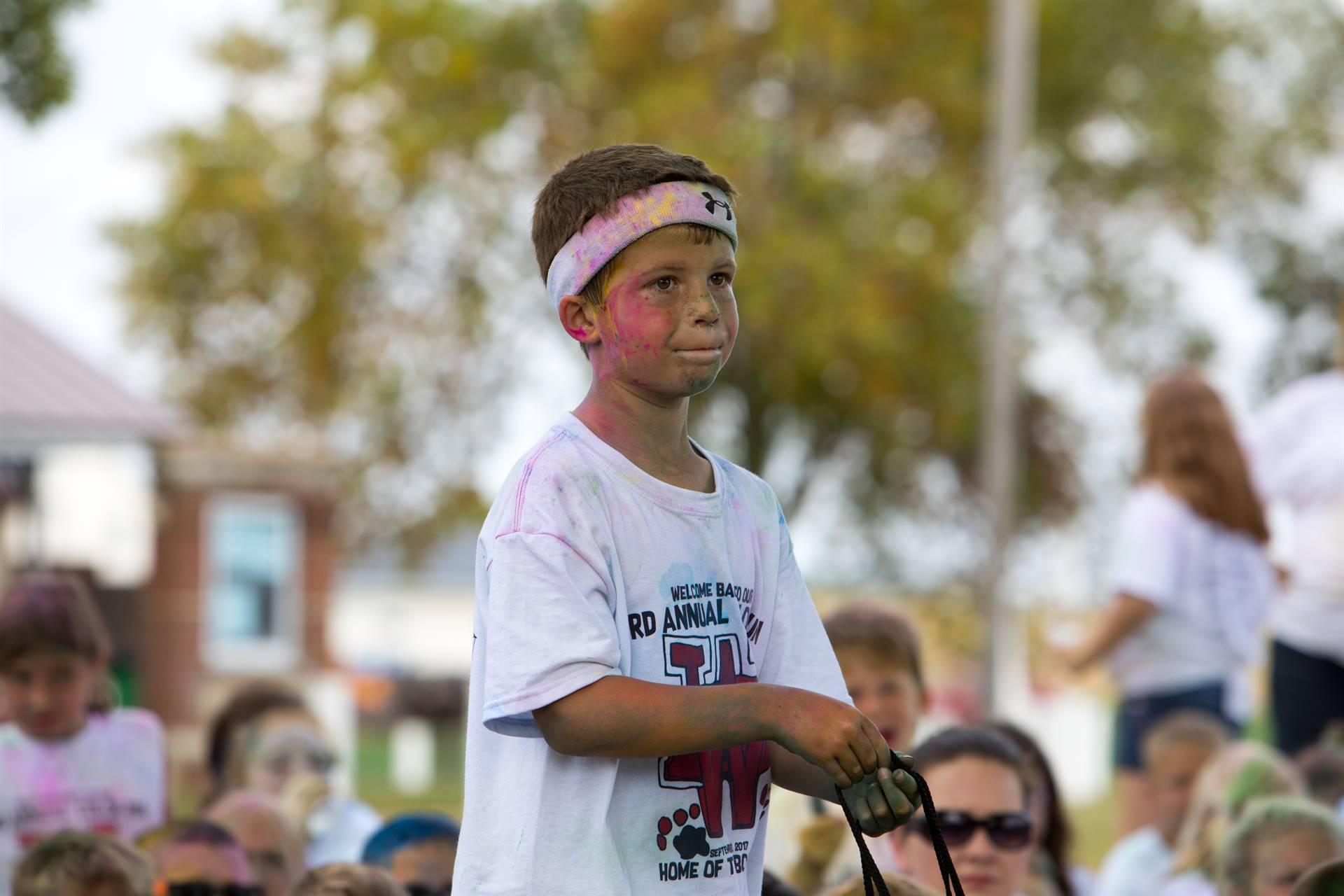Boy 2 at color run