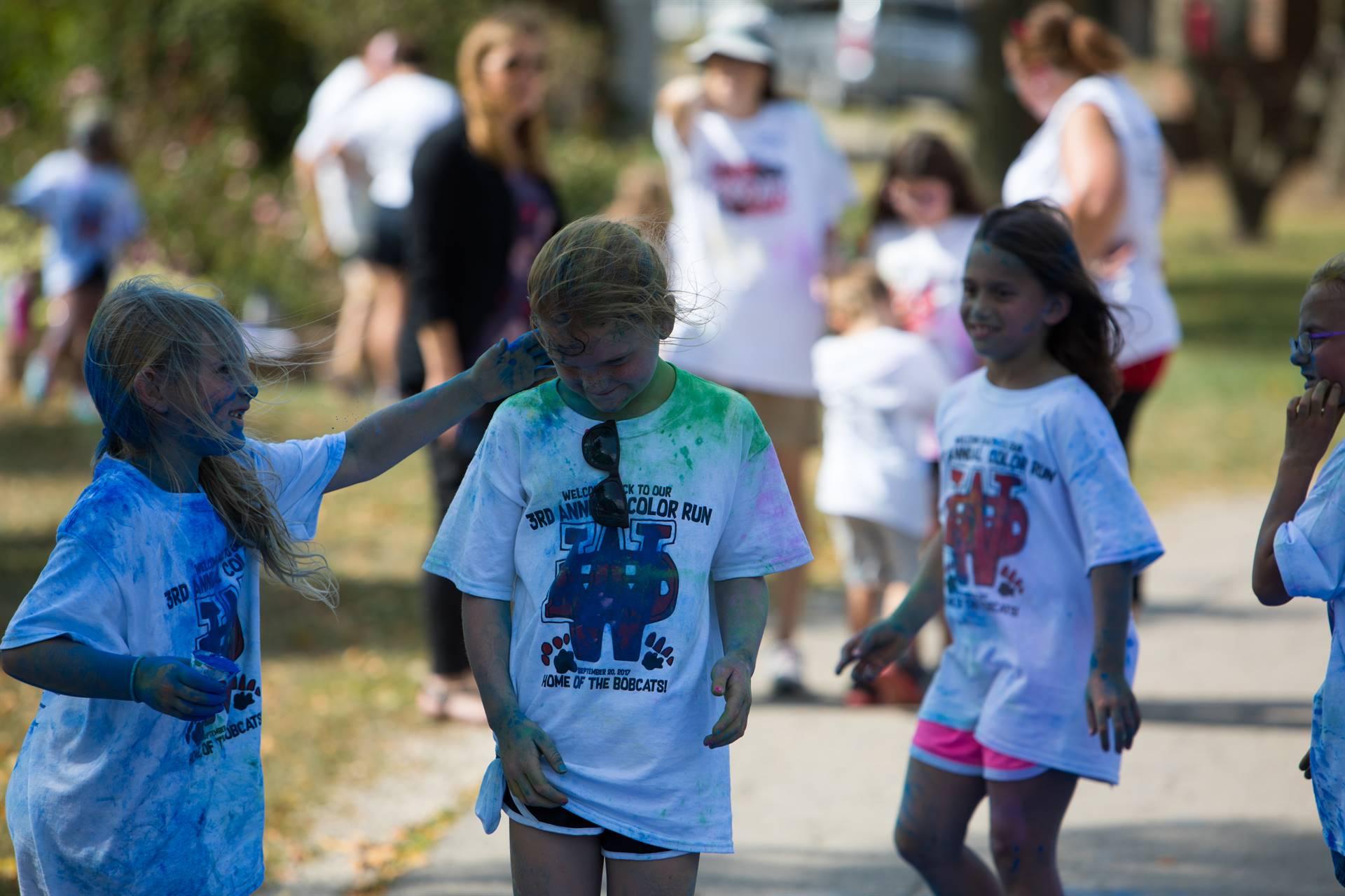 kids at color run