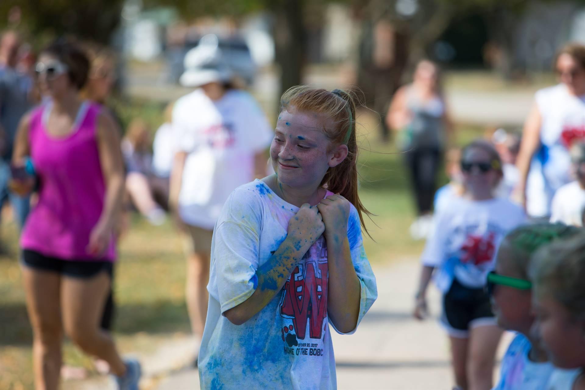 Girl 11 at color run
