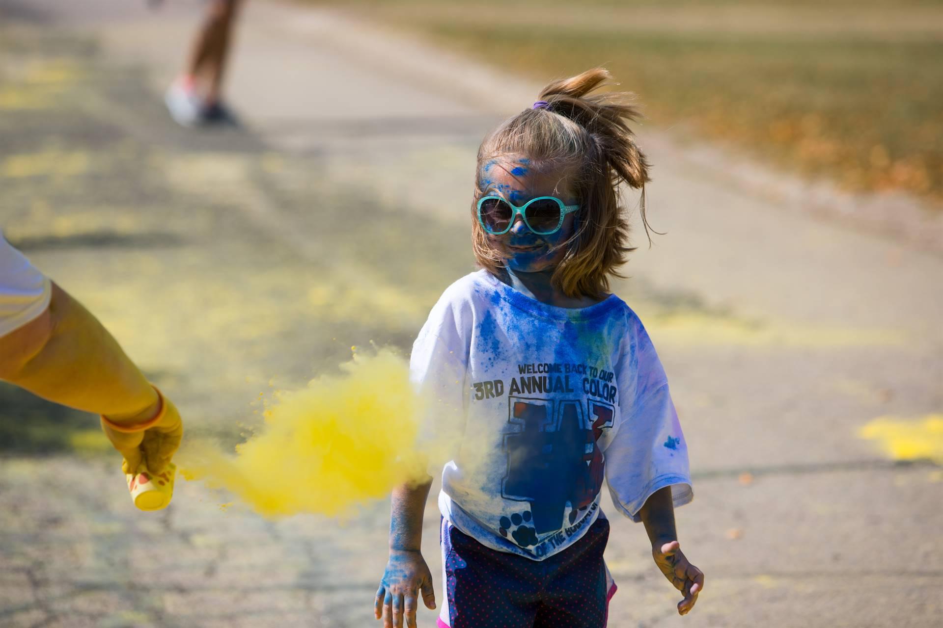 Girl 10 at color run