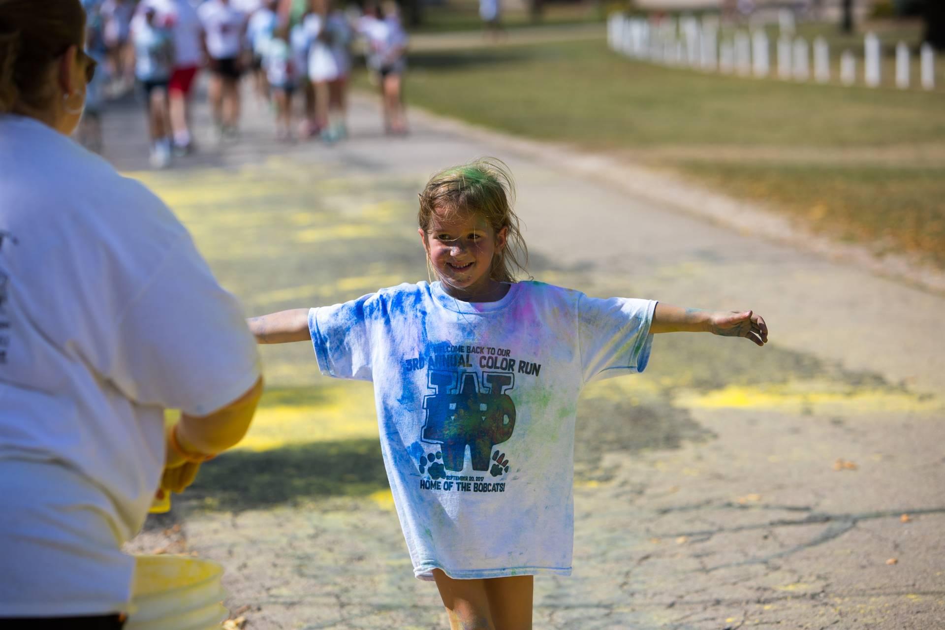 Girl 9 at color run