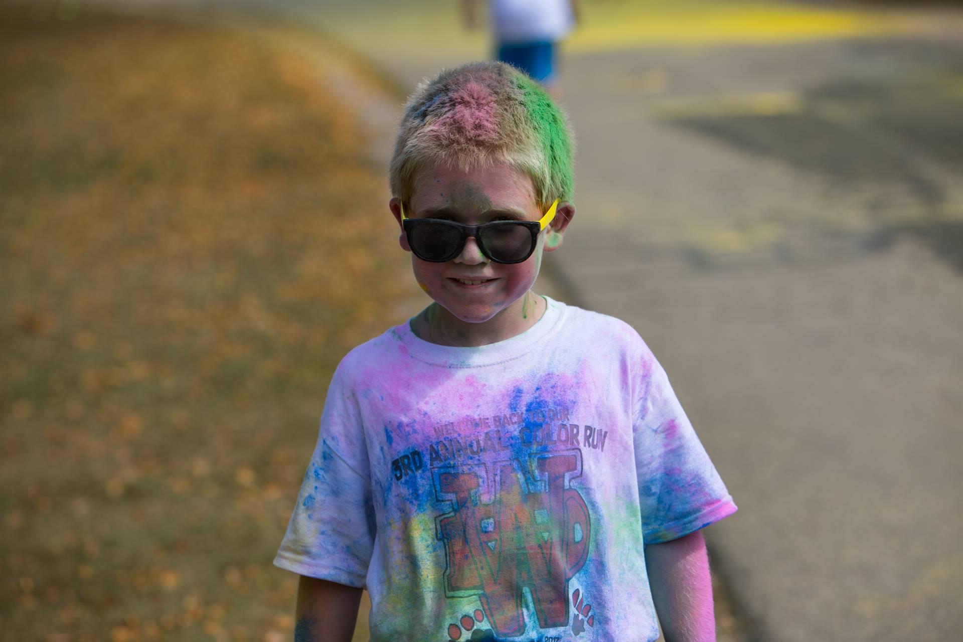Boy 4 at color run