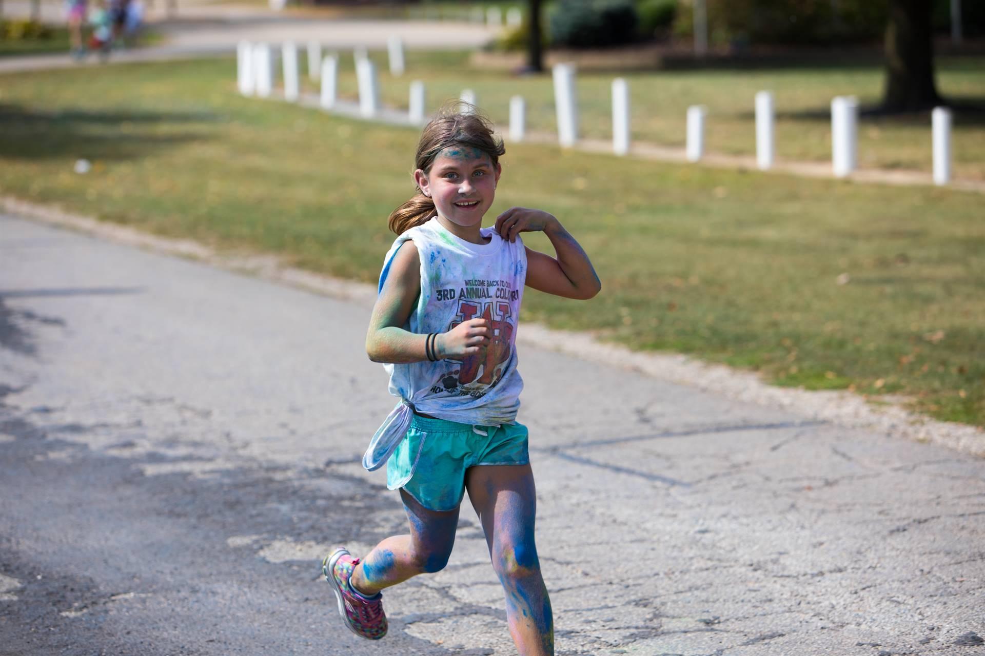 Girl 8 at color run