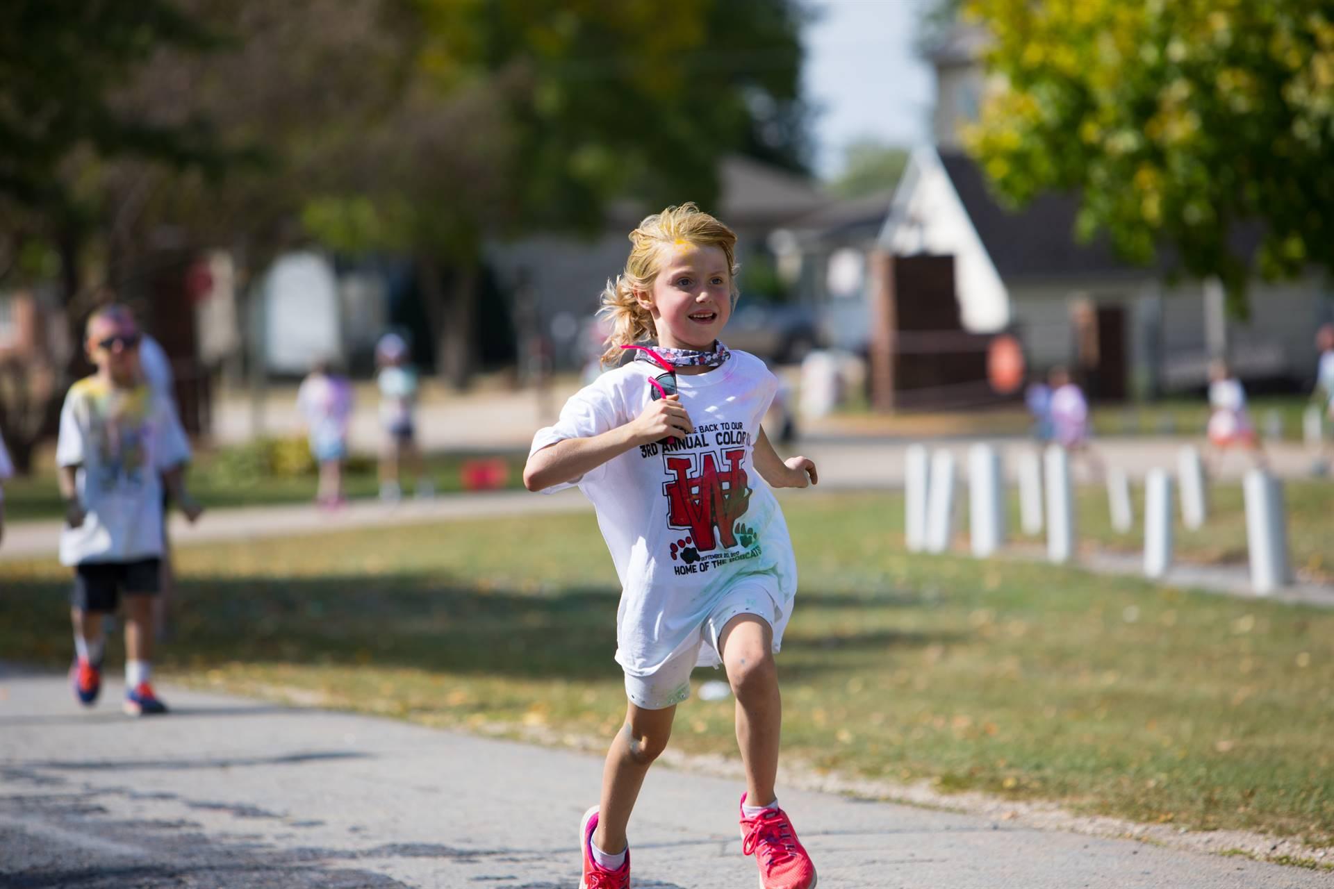 Girl 7 at color run