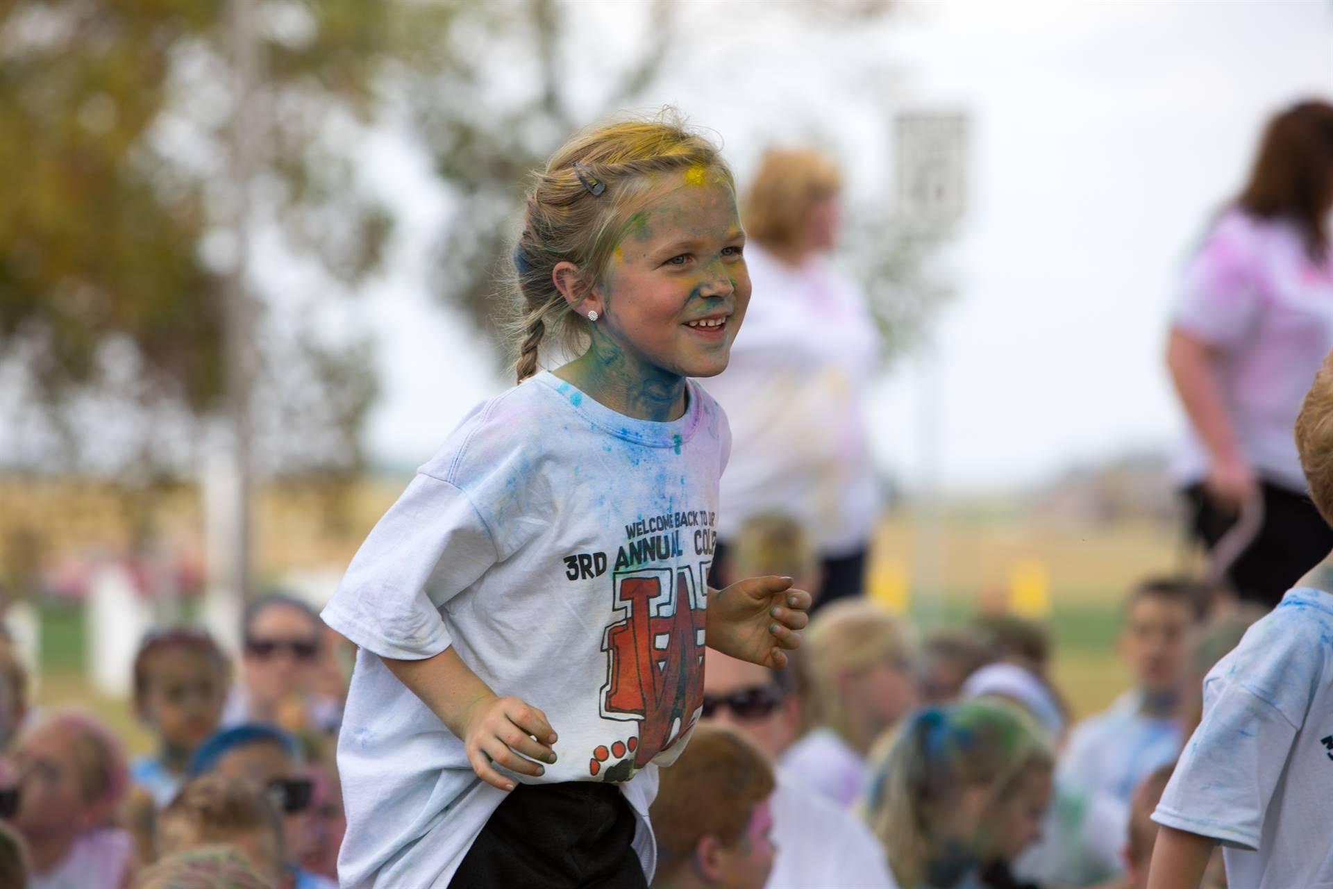 Girl 6 at color run