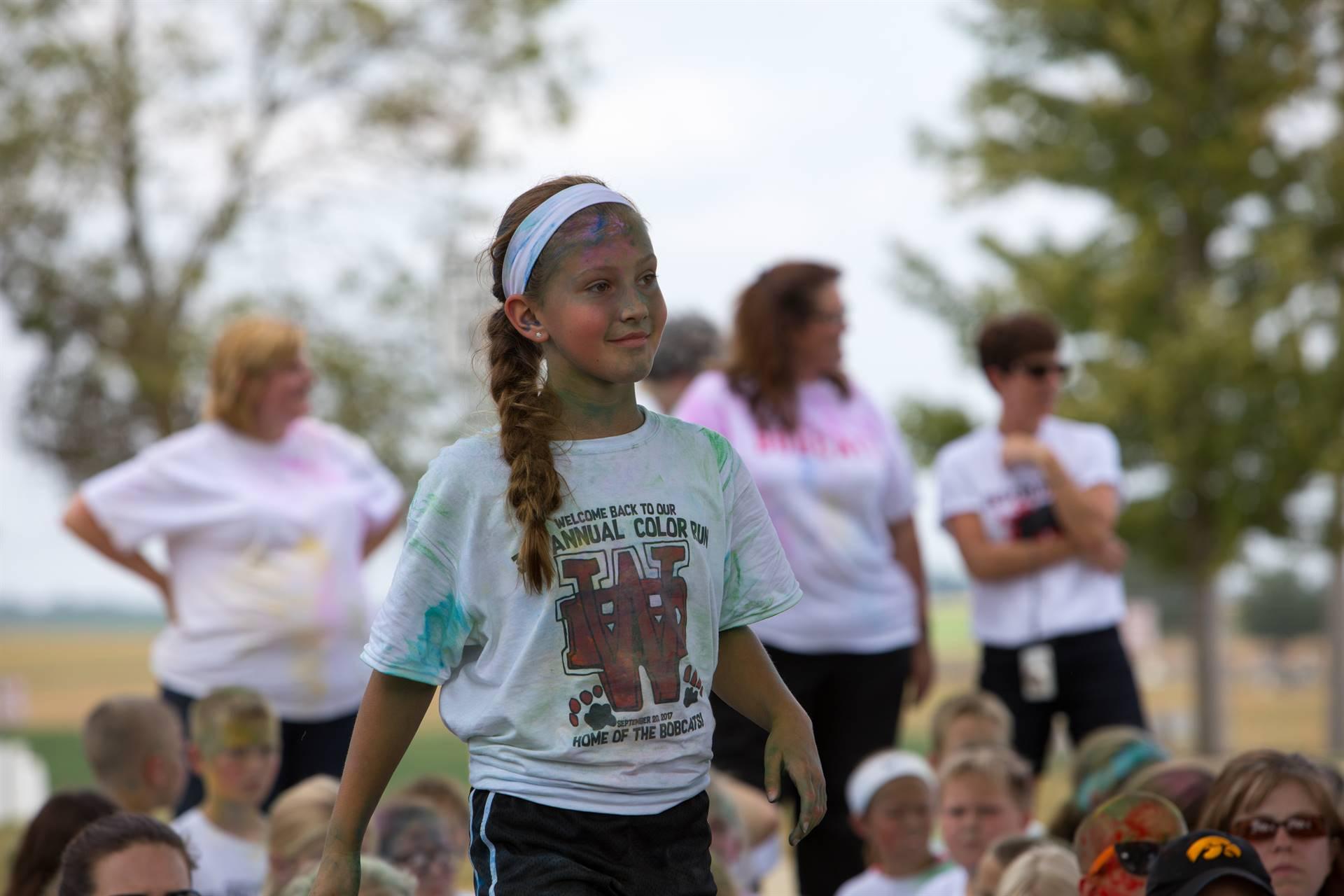 Girl 5 at color run