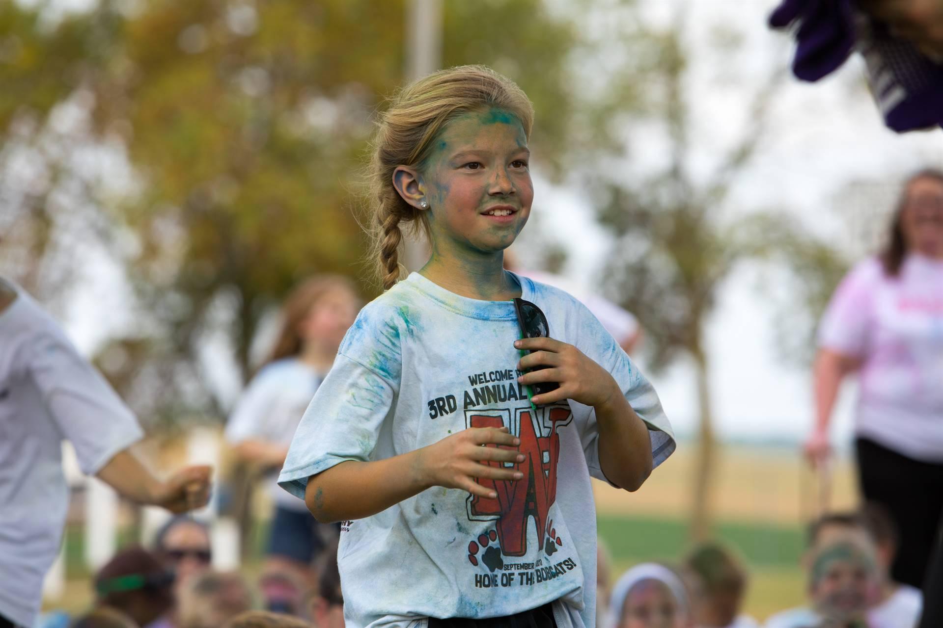 Girl 4 at color run