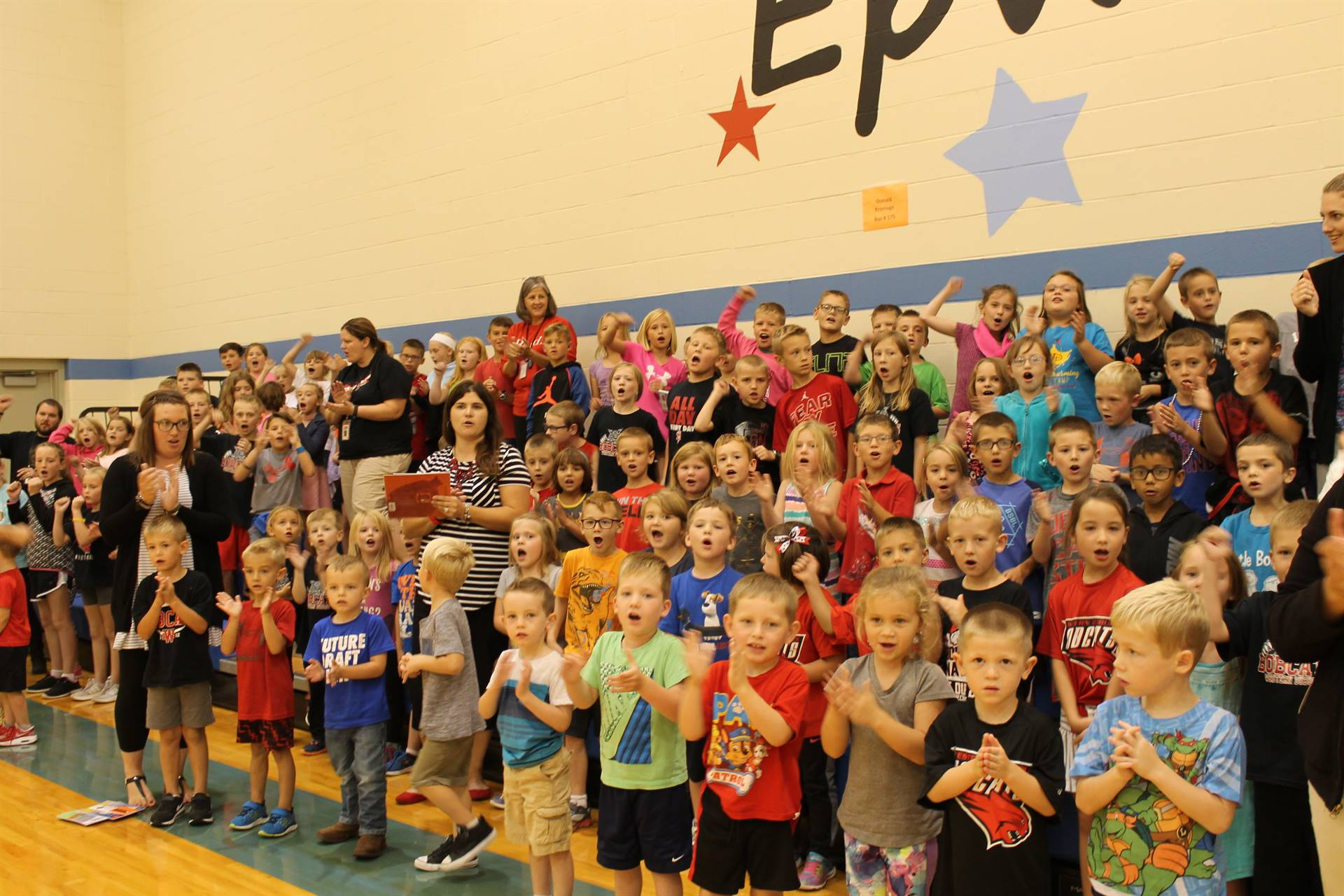 Epworth Elementary Fight Song Students