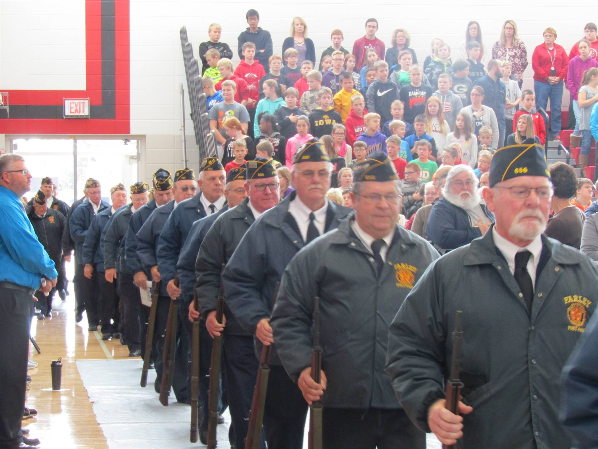 DMIS Veterans march into assembly