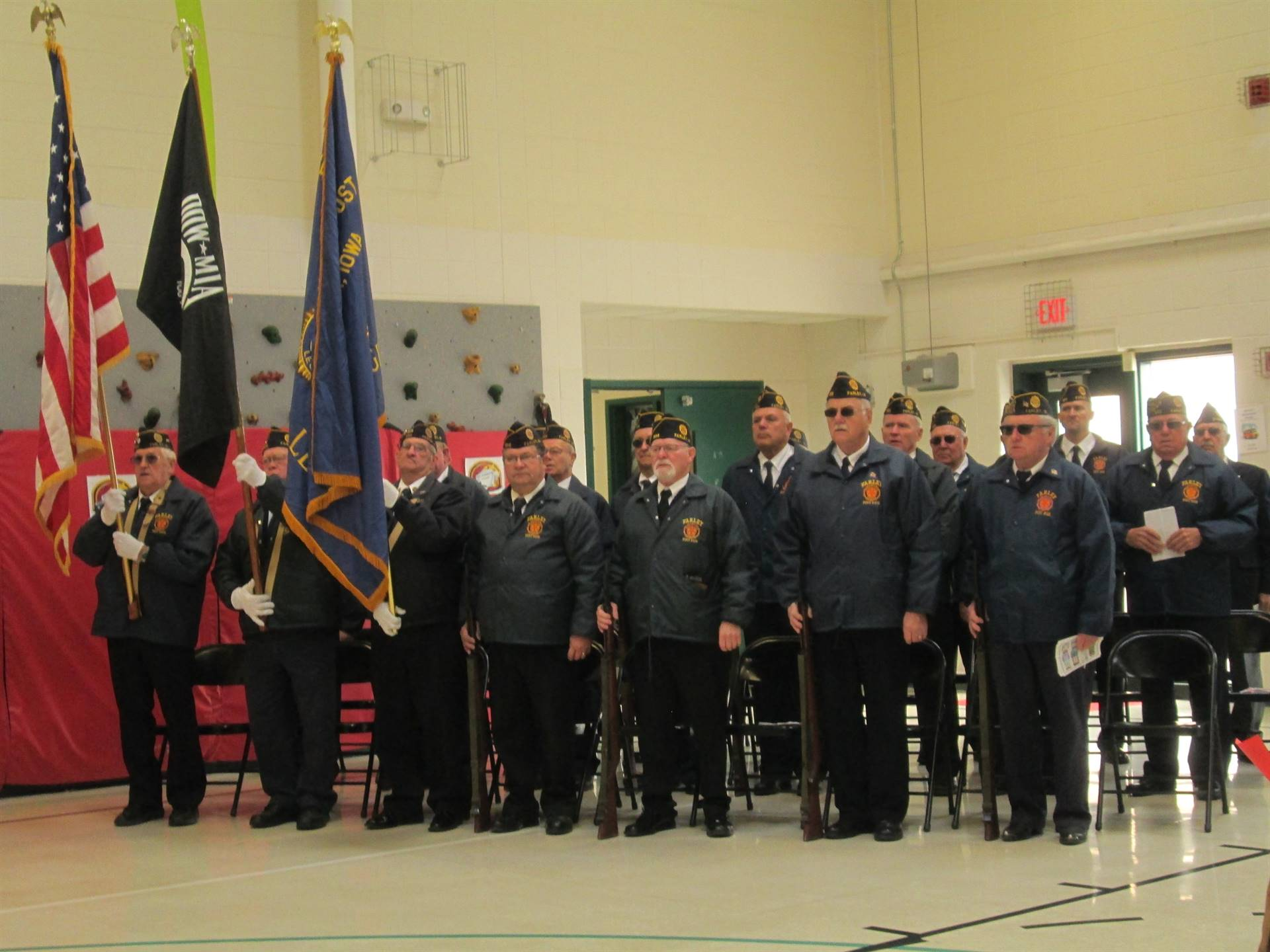Farley Elementary veterams visit the school for Veterans Day
