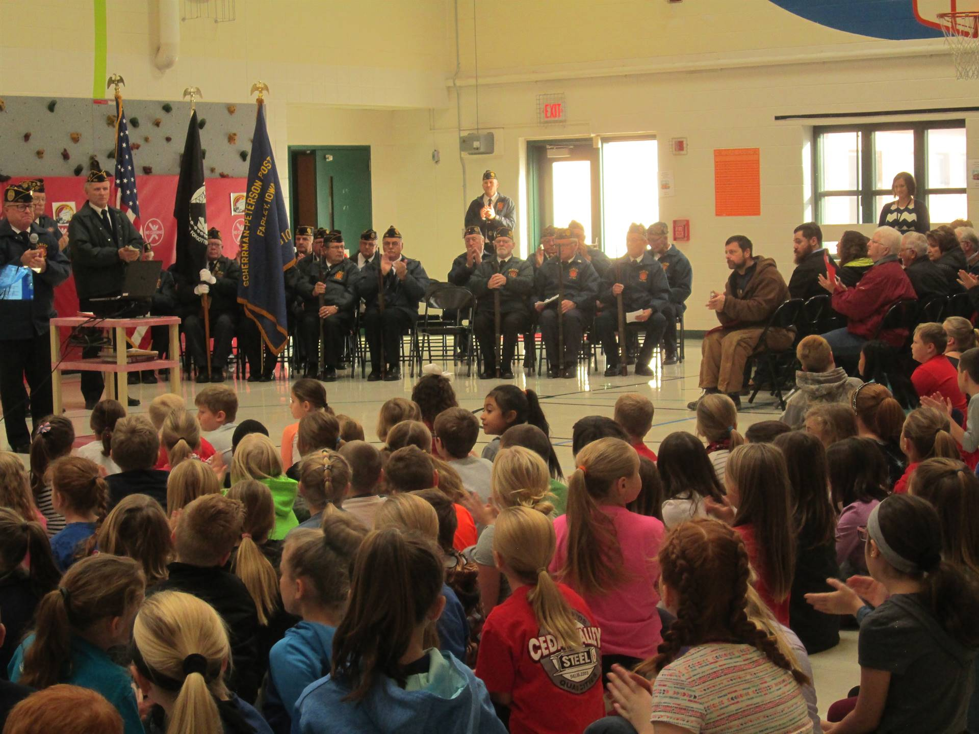 Farley Elementary Veterans Day assembly
