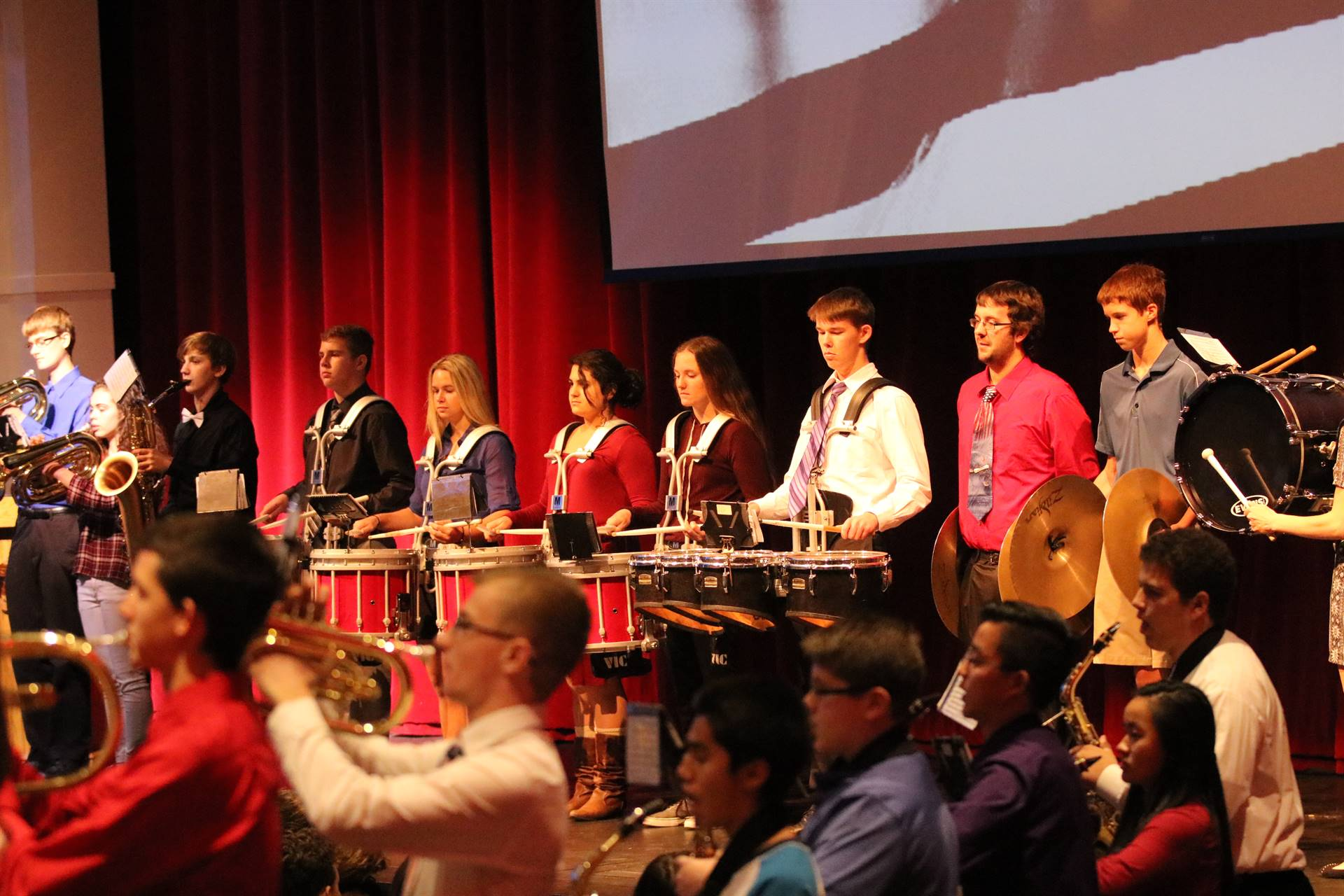 WDHS Drumline at Veterans Day assembly