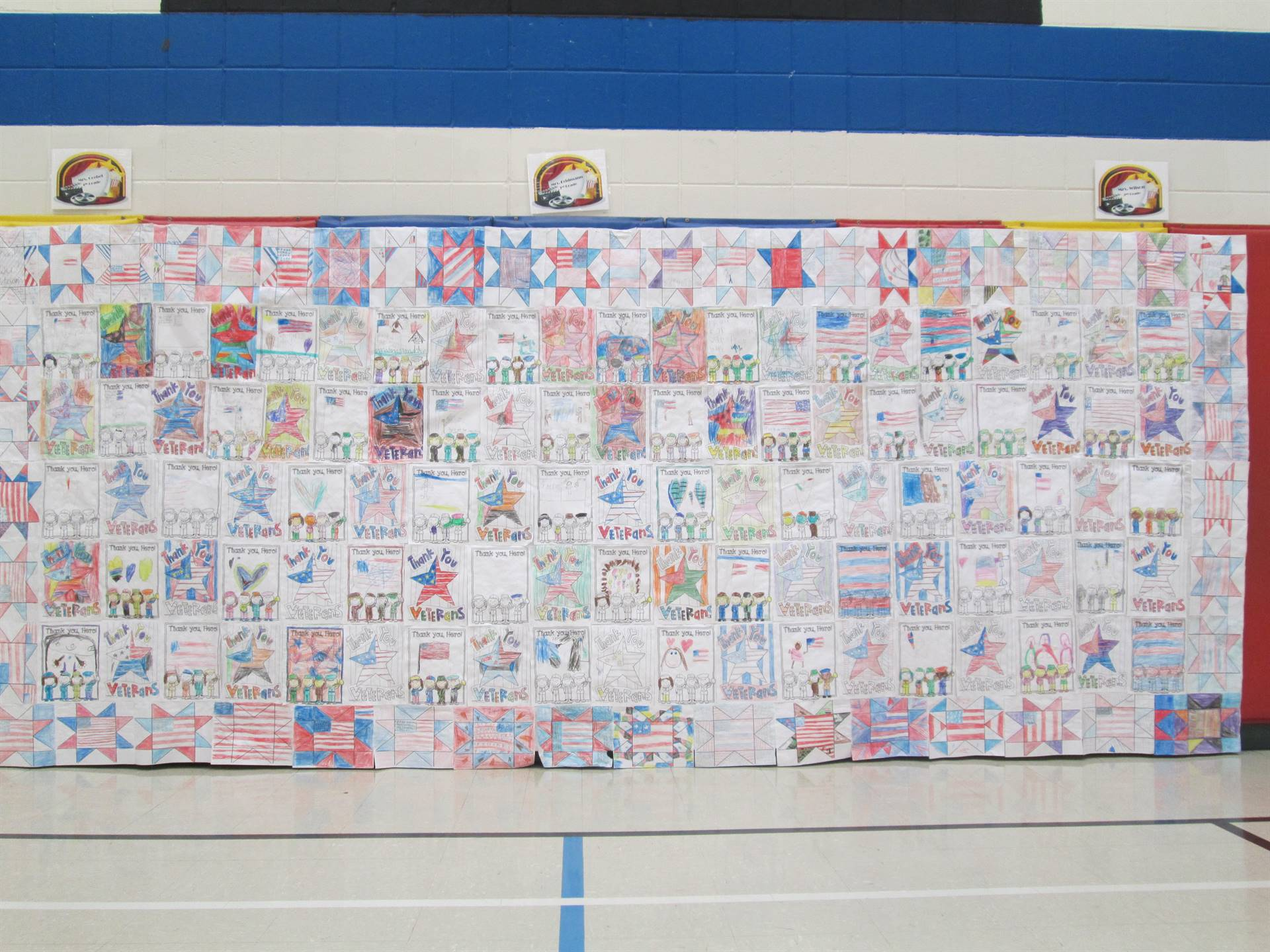 Farley Elementary student artwork for Veterans Day
