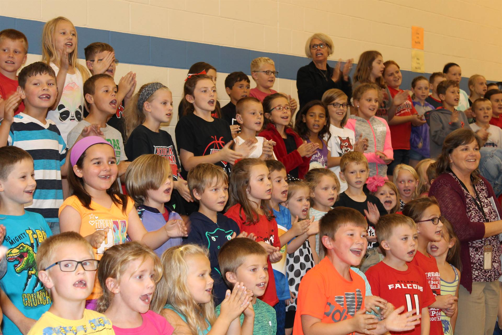 Students at Epworth Elementary are singing the WDHS Fight Song