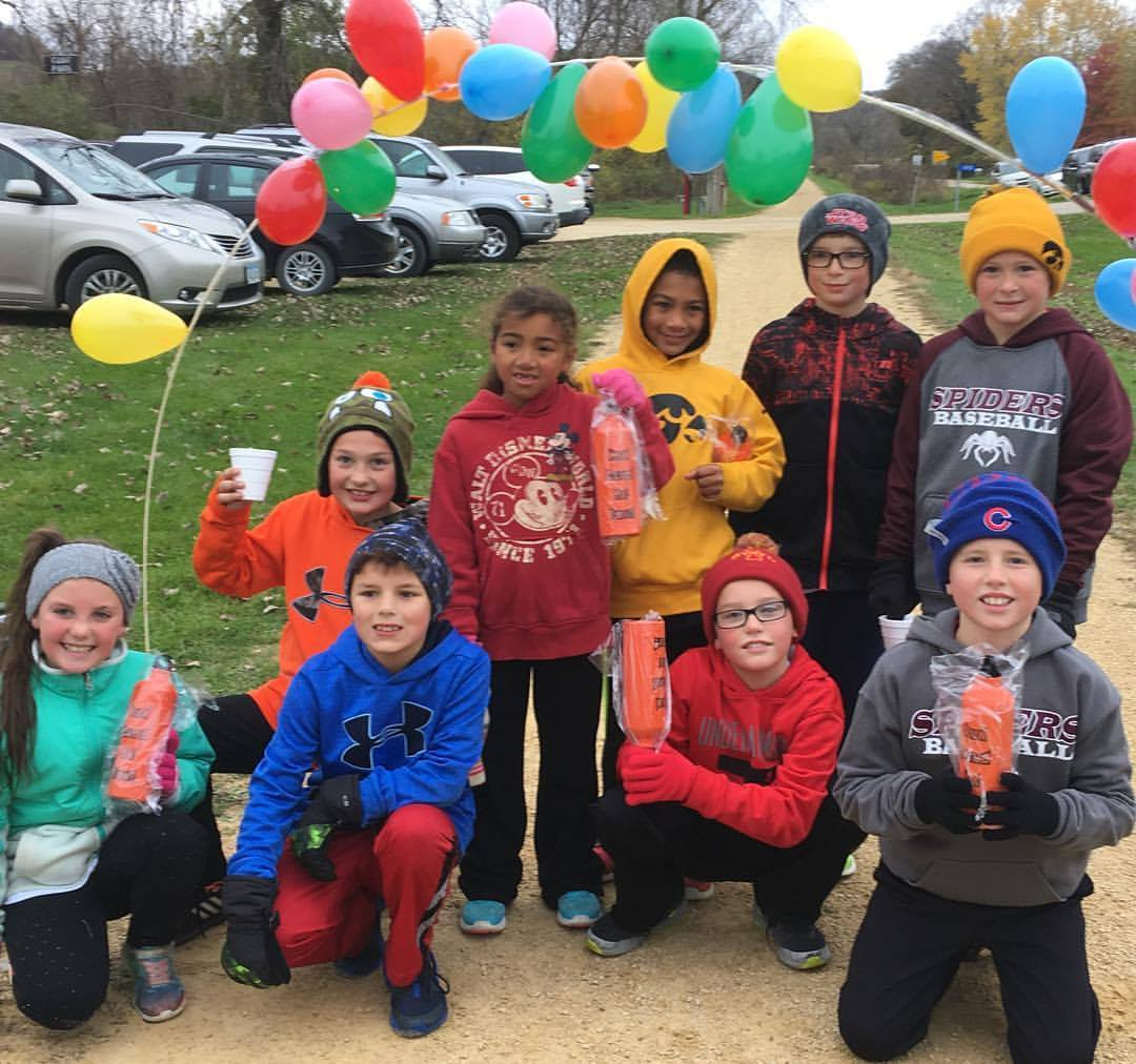 Students at Epworth Elementary participated in a 5K run at Epworth Elementary