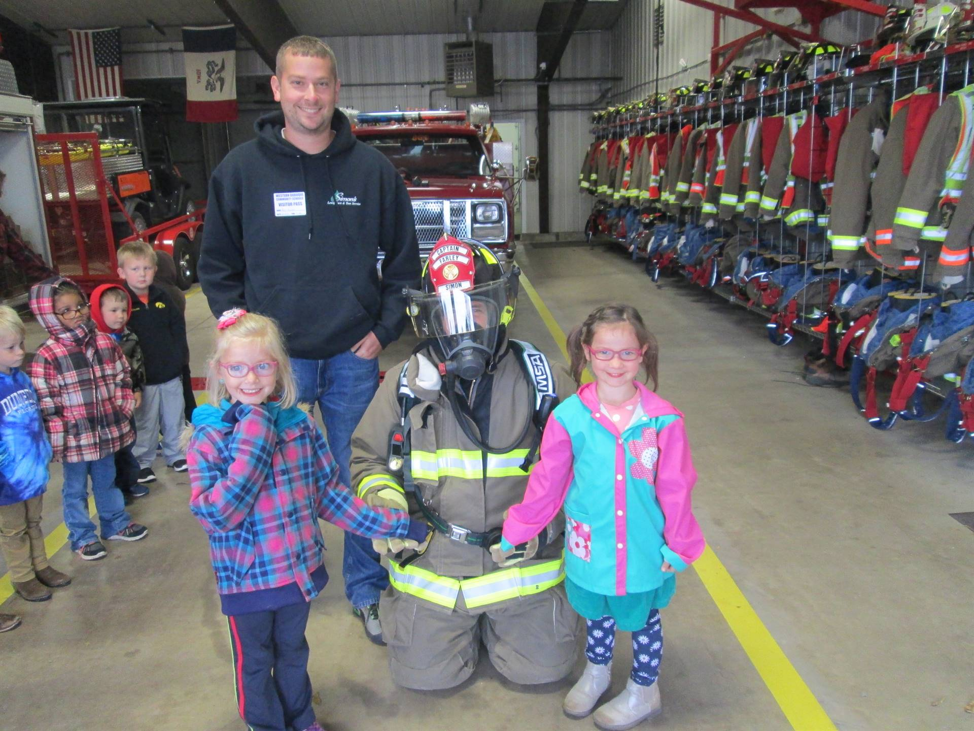 Preschool visit to the fire station