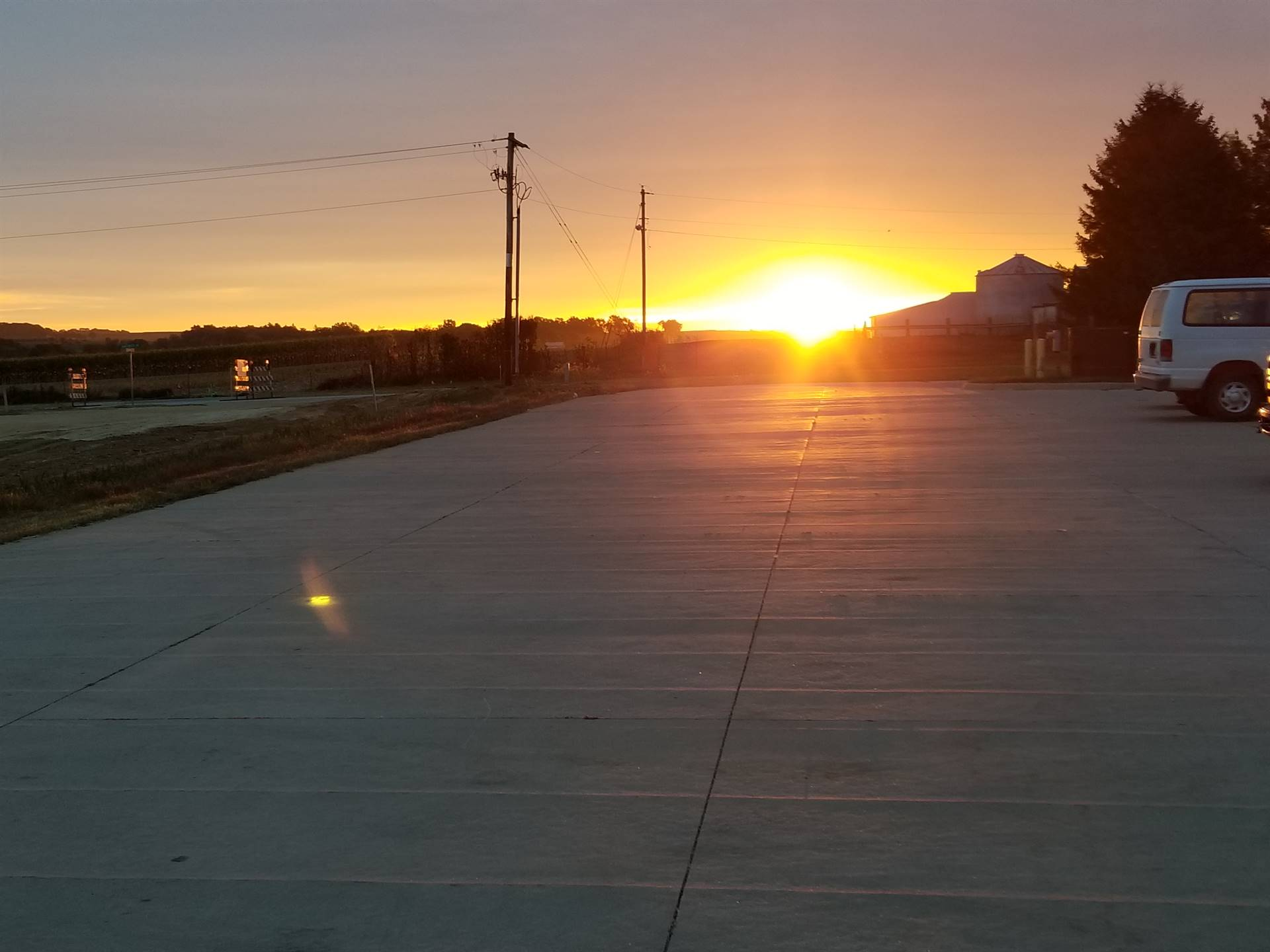 photo of sunrise at the transportation office
