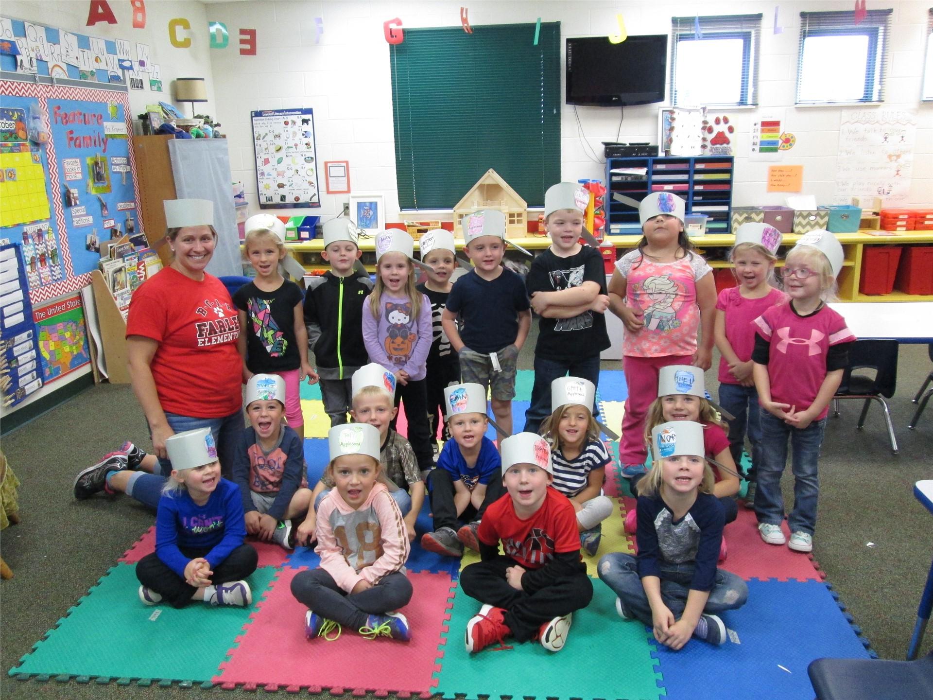 Mrs. Kramer's Prek students