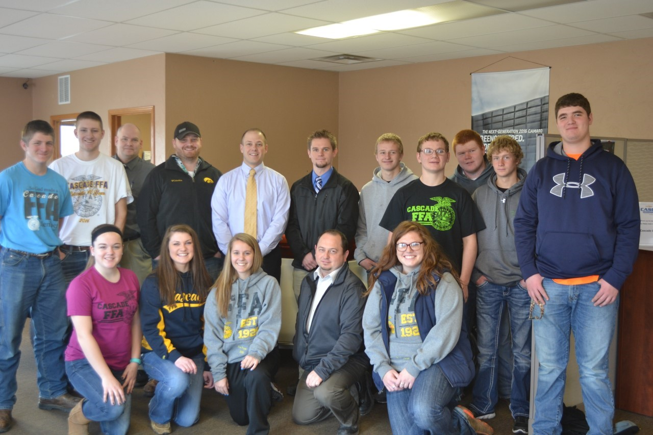 Thank you Cascade Chevrolet for donating 2,400 dollars to the Cascade FFA .