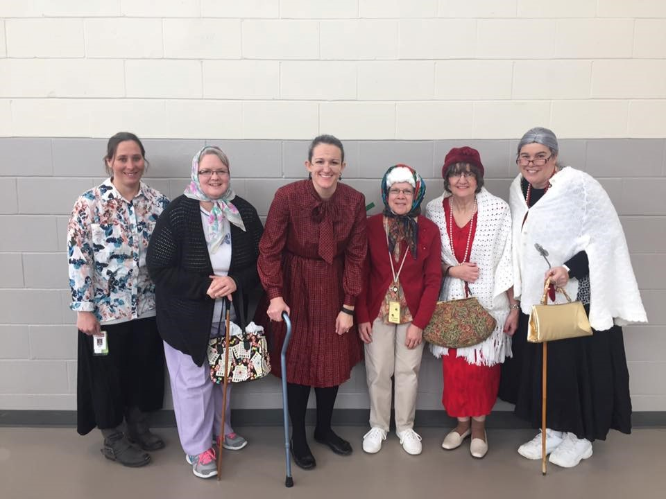 Some staff dressing as 100 yrs old for 100th day