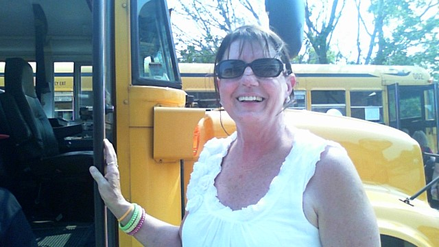 photo of Sub driver Connie Simon with her bus