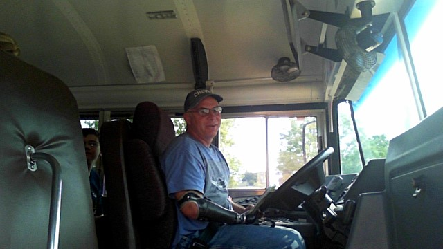 photo of Dave Offerman in his bus