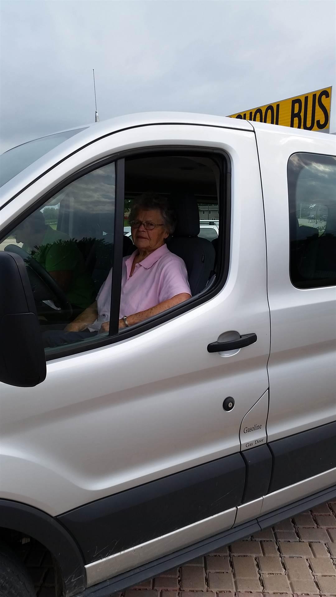 photo of Leona Roling in her route van