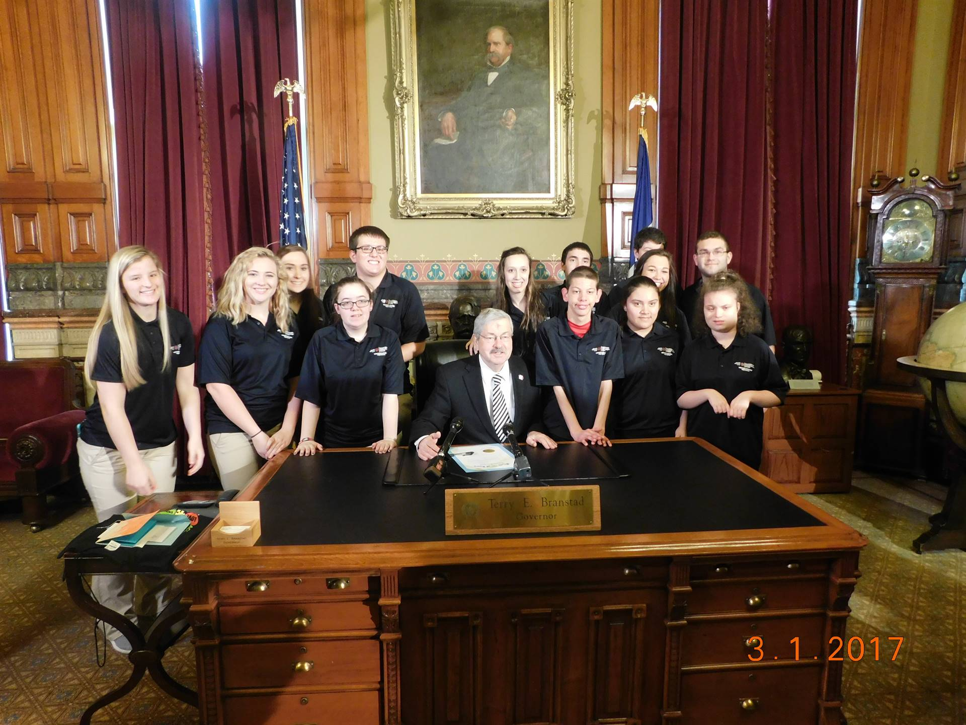 Unified Partners at the Iowa State house With Governor Brandstad