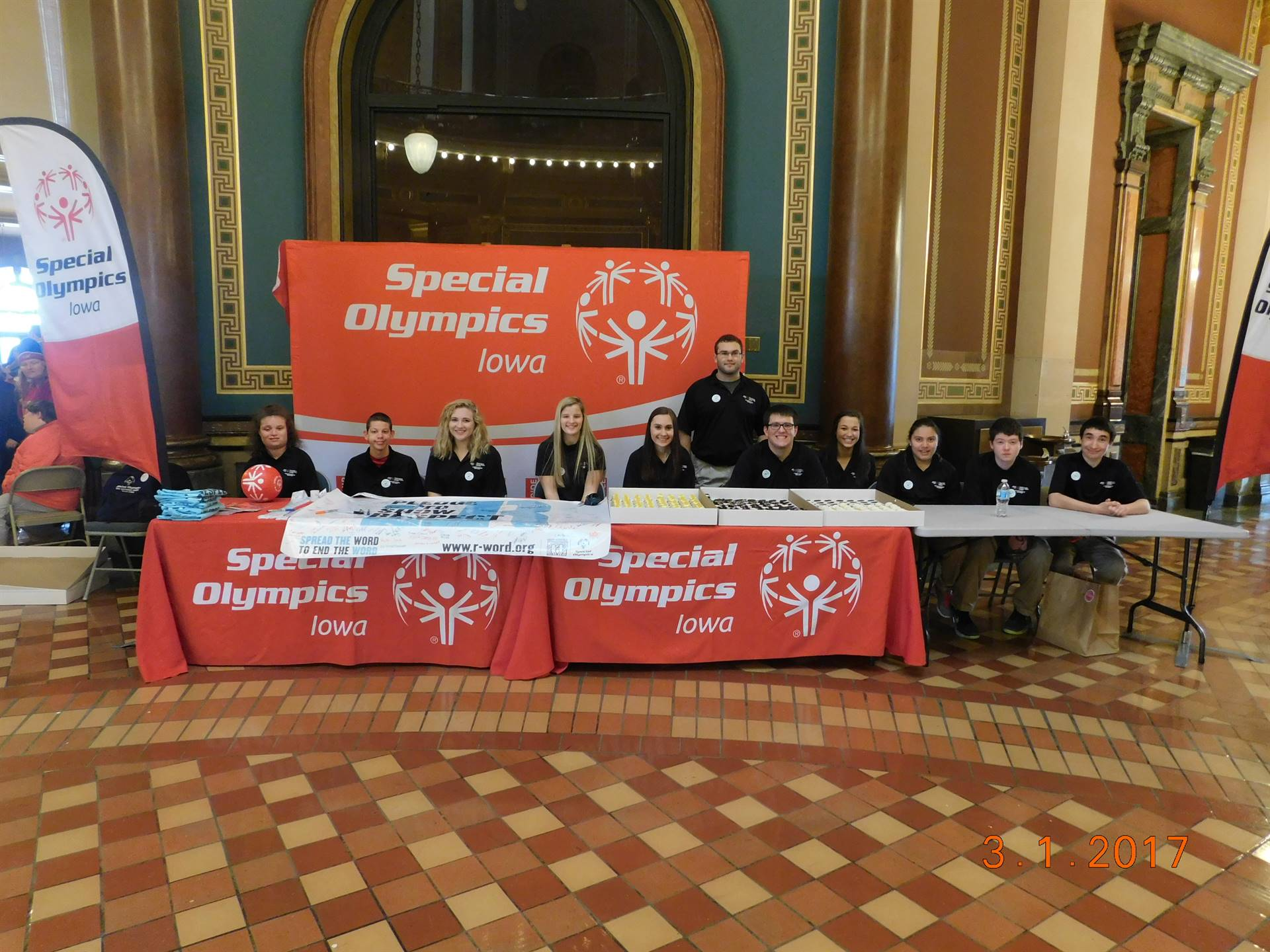 Unified Partners taking Pledges to support Respect for all abilities...at the State Capitol building