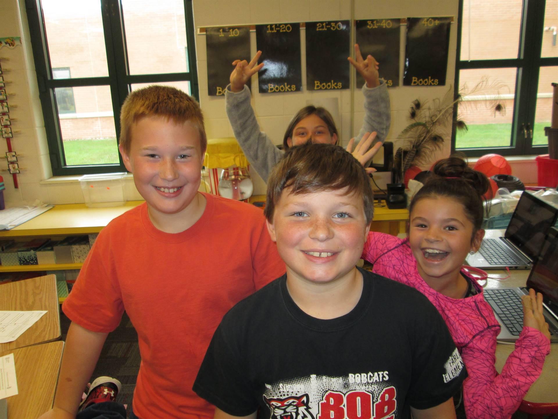 students posing and having fun