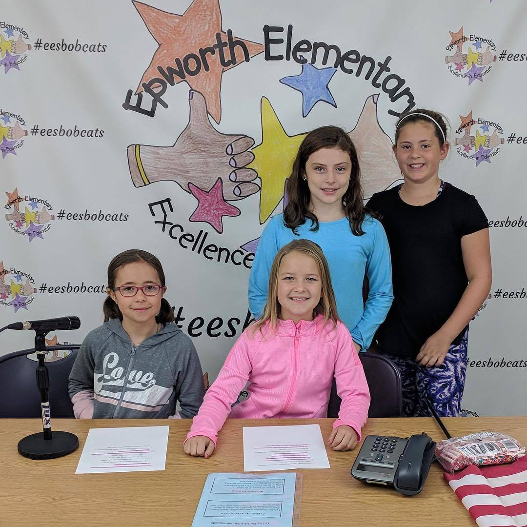 Technology Ambassadors leading live announcements